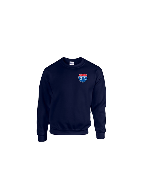 Detroit 313 Interstate (Left Chest) Sweatshirt