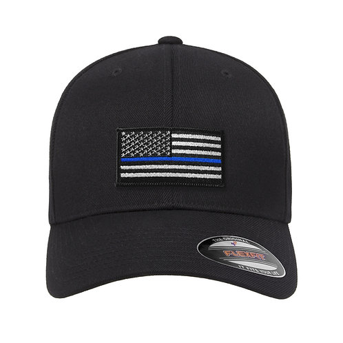Blue Stripe Flag Flex-Fit Hat