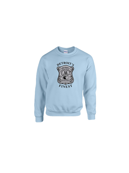 Detroit Police Finest (Old Style) Badge Sweatshirt