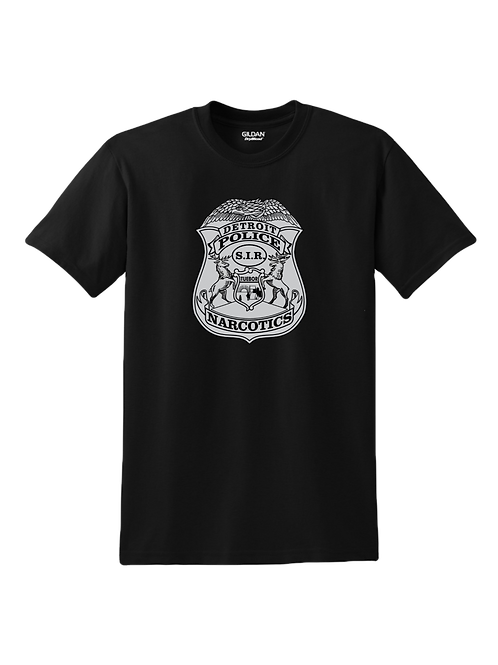 Detroit Police Narcotics Badge T-Shirt