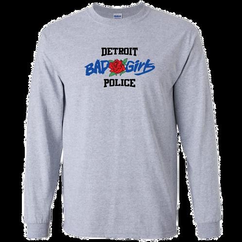 Detroit Police Bad Girls (rose) Long Sleeve Shirt
