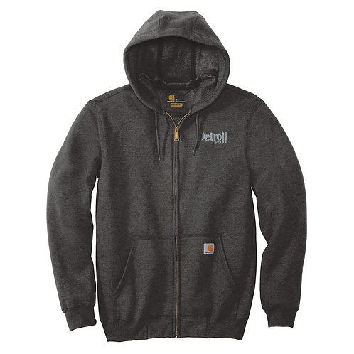 Carhartt ® Midweight Hooded Zip-Front Detroit Police (Left Chest) CTK122