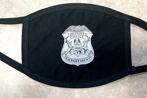Detroit Police Department Badge Face Mask
