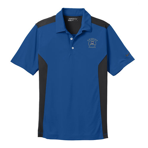Nike Detroit Police Car Patch Dri-FIT Engineered Mesh Polo