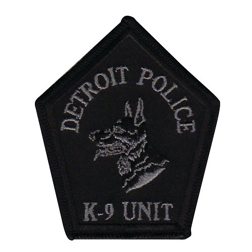 Detroit Police K-9 Unit Collectors Patch (Black)