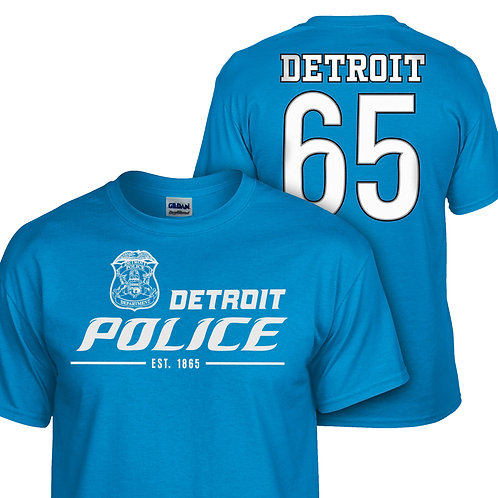 Detroit Police Lions Double Sided Shirt 8000