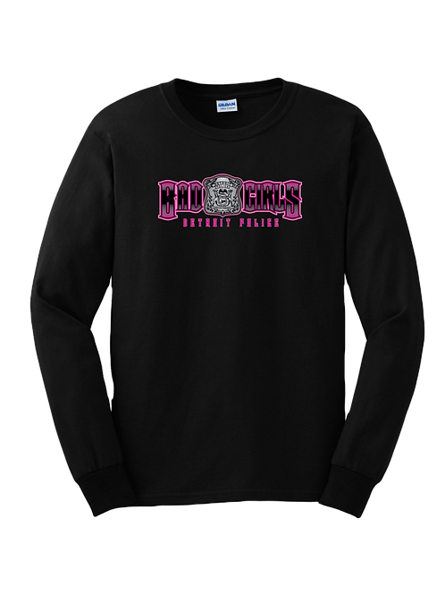 Detroit Police Bad Girls (old style) Long Sleeve Shirt