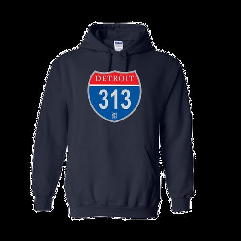 Detroit Police 313 Interstate Hoodie 18500