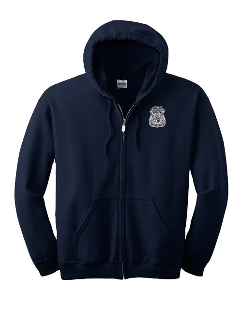 Detroit Police Badge Zip Up Hoodie
