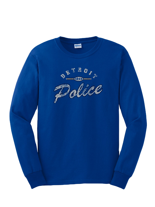 Detroit Police Distressed Long Sleeve Shirt
