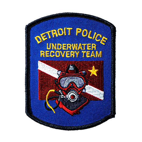 Detroit Police Underwater Recovery Team Collectors Patch