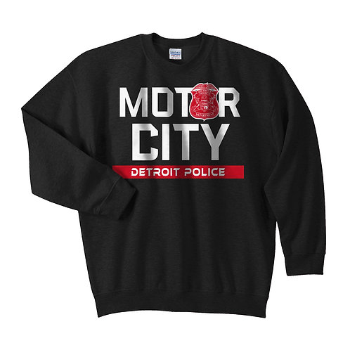 Motor City Detroit Police Red Wings Crewneck Sweatshirt
