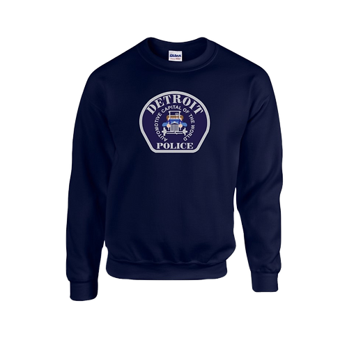 Detroit Police Car Patch Sweatshirt