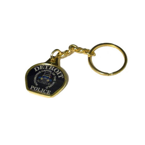 Detroit Police Car Patch Keychain