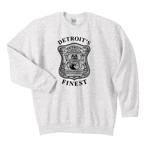 Detroit Police Finest (Old Style) Badge Sweatshirt 18000