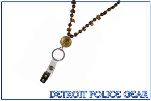 Detroit Police Beaded Detachable Lanyard (Bronze)