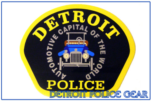 Detroit Police Car Patch Decal
