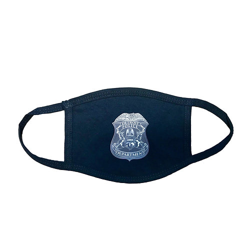 Detroit Police Department Tone on Tone Badge Face Mask