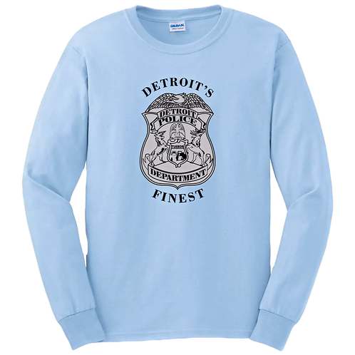 Detroit Police Finest Badge Long Sleeve Shirt