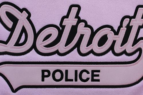 Property of Detroit Police Applique Pink Sweatshirt