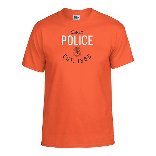 Detroit Police Gear Tigers Inspired Orange T-Shirt