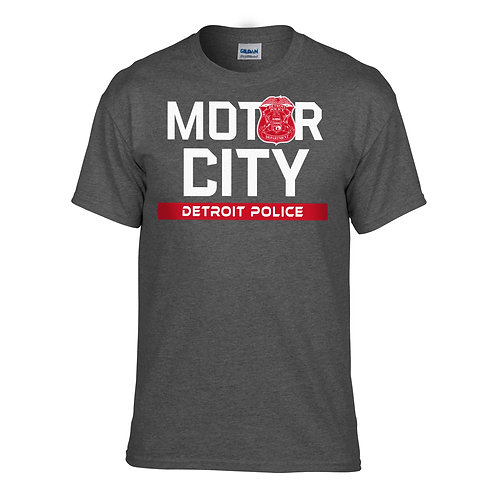 Motor City Detroit Police Red Wings T-Shirt 8000