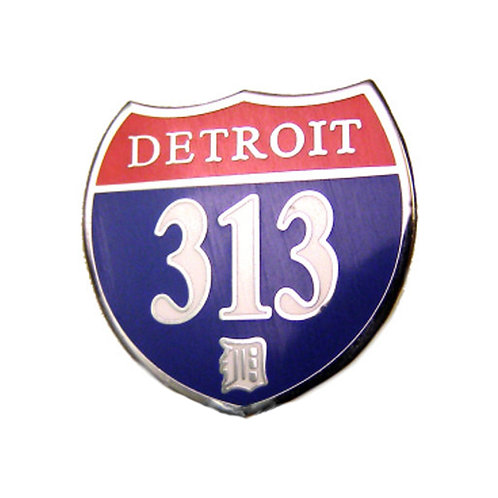 Detroit 313 Interstate Collectors Pin