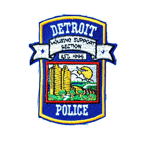 Detroit Police Housing Support Section Collectors Patch
