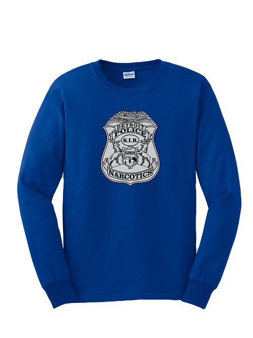 Detroit Police Narcotics Badge Long Sleeve Shirt