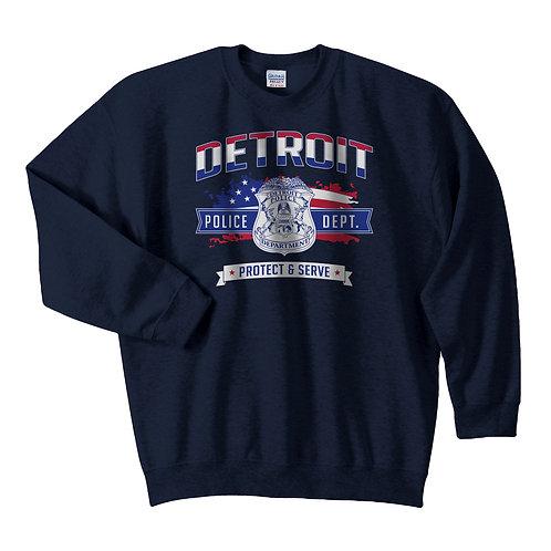 Detroit Police Protect & Serve Freedom Sweatshirt