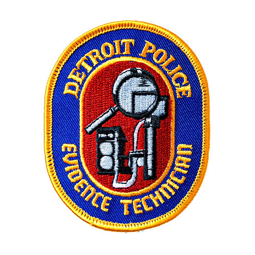 Detroit Police Evidence Technician Collectors Patch