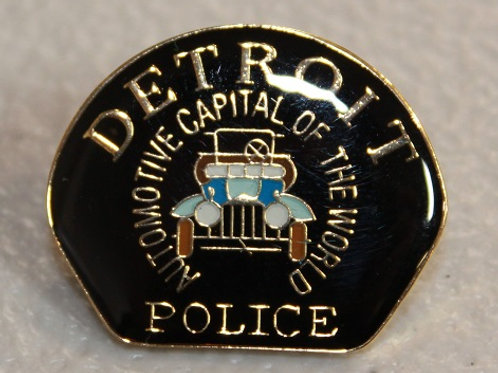 Detroit Police Car Patch Collectors Pin