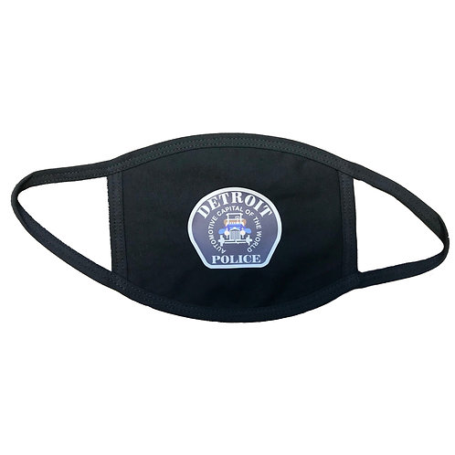 Detroit Police Department Car Patch Face Mask