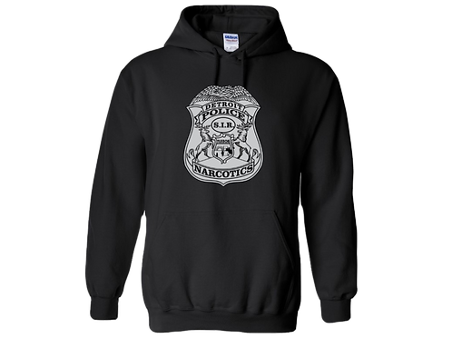Detroit Police Narcotics Badge Hoodie 18500