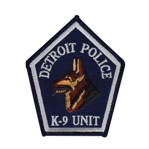 Detroit Police K-9 Unit Collectors Patch (Navy)