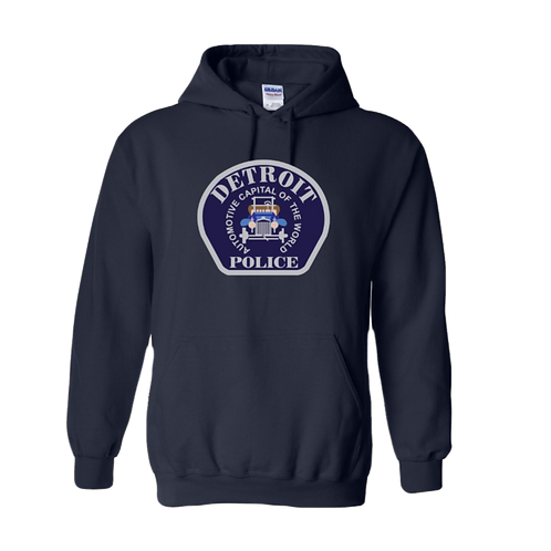 Detroit Police Car Patch Hoodie 18500