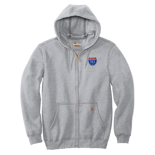 Carhartt ® Midweight Hooded Zip-Front 313 Patch (Left Chest) Hoodie CTK122