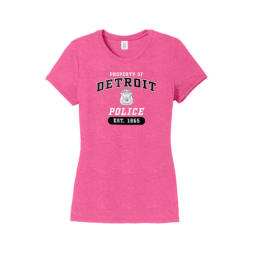 Property of Detroit Police With Badge Women's Shirt