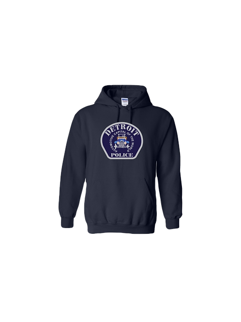 Detroit Police Car Patch Hoodie
