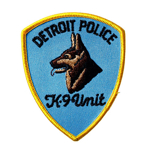 Detroit Police K-9 Unit Collectors Patch (Old Style)