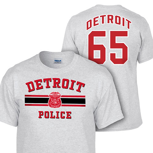 Detroit Police Red Wings Double Sided Shirt 8000