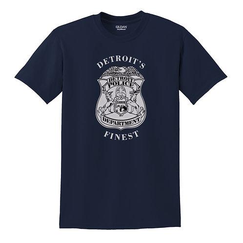 Detroit Police Finest Badge T-Shirt 8000