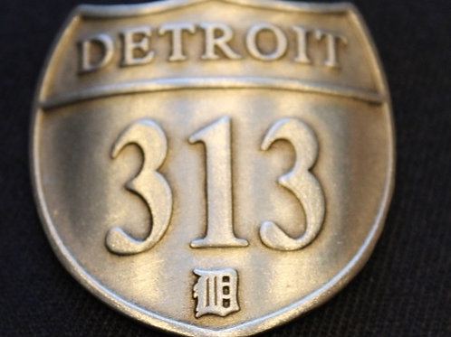 Detroit 313 Pewter Shield Adjustable Hat