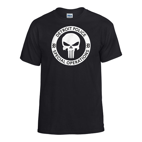 Detroit Police Special Operations Punisher T-Shirt 8000