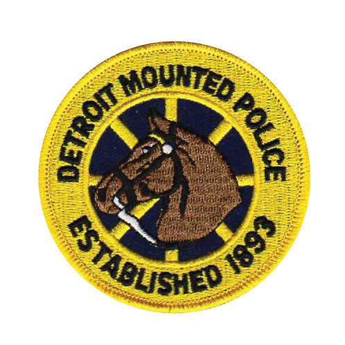 Detroit Mounted Police Collectors Patch