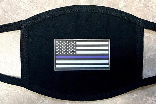 Detroit Police Blue Line Flag Face Mask