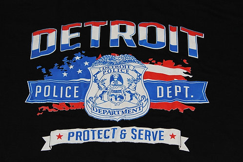 Detroit Police Protect & Serve Freedom T-Shirt