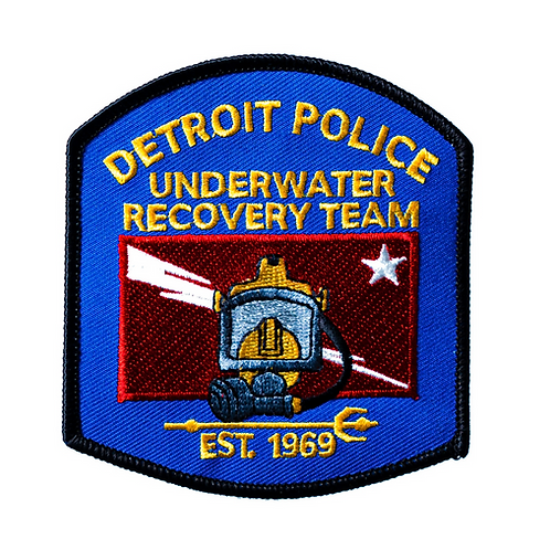 Detroit Police Underwater Recovery Team Est. 1969 Collectors Patch