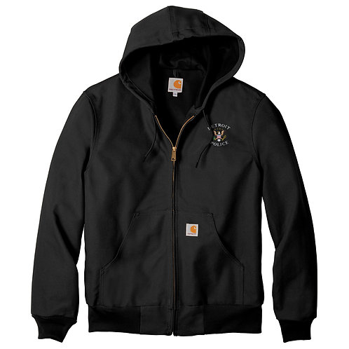 Carhartt Tall Thermal-Lined Duck Active Jac Detroit Police Eagles Jacket CTTJ13