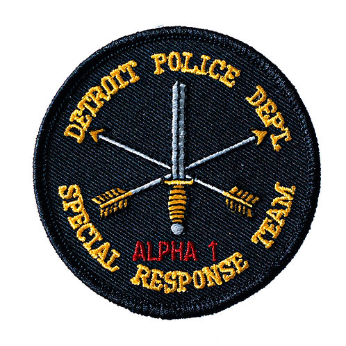 Detroit Police Special Response Team Circular Collectors Patch